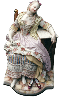 Masseine Figurine repaired by Karen Dean Restoration