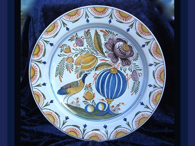 platter repaired by Karen Dean / ceramic restoration studios