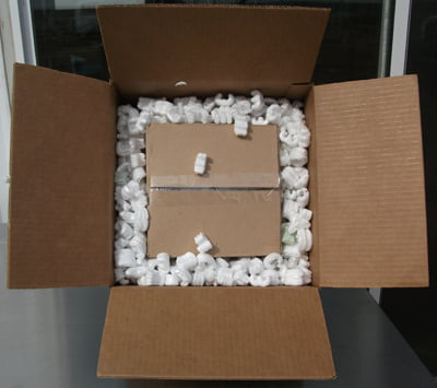 double box for shipping fragile, valuable ceramic pieces