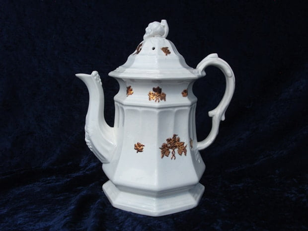 teapot repaired by Karen Dean / ceramic restoration studios