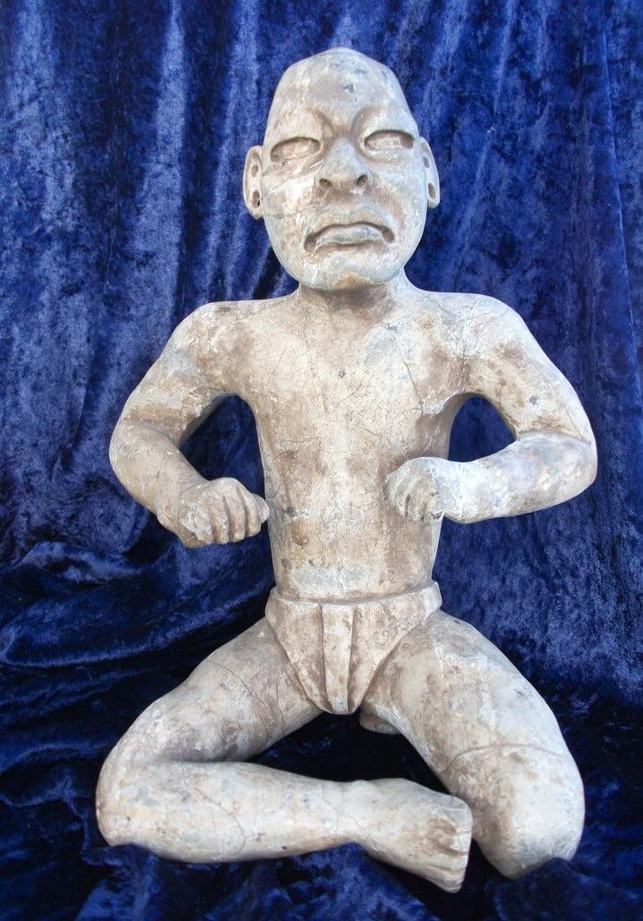 Olmec statue after restoration