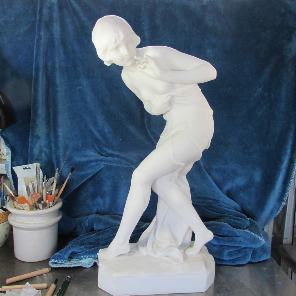 Finished Carrara Marble Statue