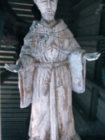 wooden sculpture of St Frances
