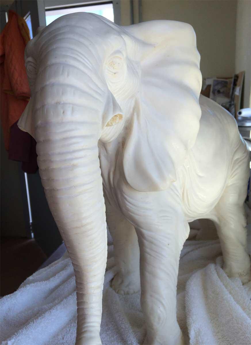 alabaster elephant in need of repair