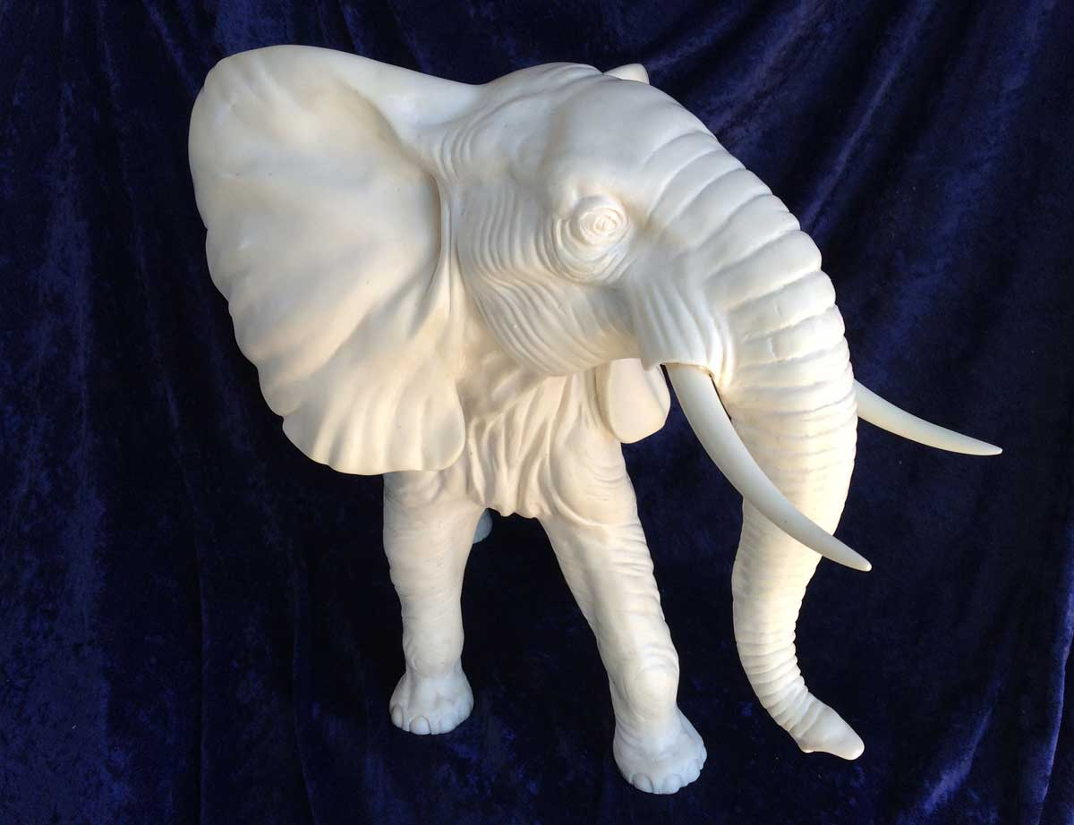 fully restored alabaster elephant statue